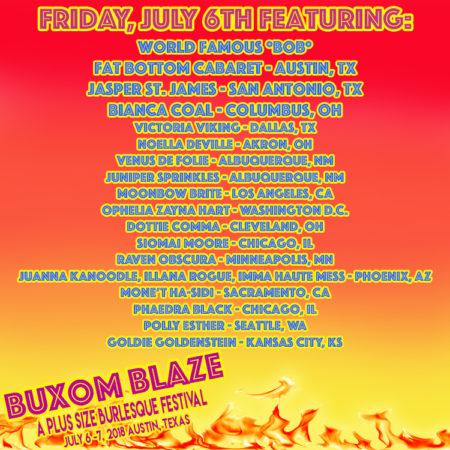 Buxom Blaze Burlesque Festival, Austin Burlesque, Plus-sized Burlesque