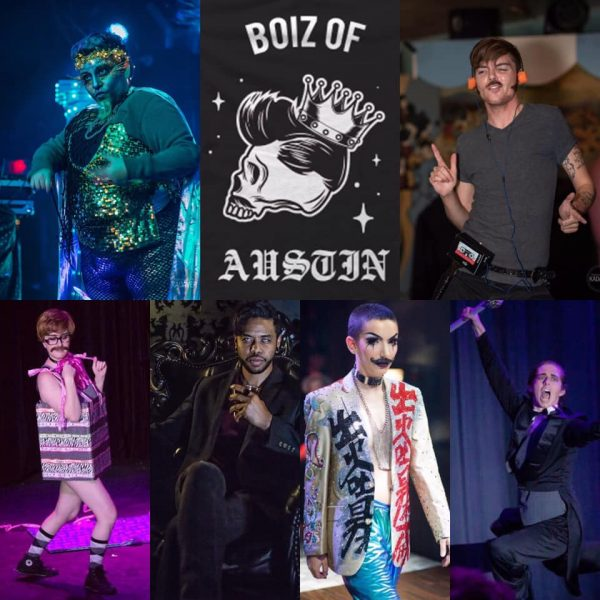 Boiz of Austin, Austin drag, queer austin, austin queer events, austin boylesque, Papi Churro, Max Morrison, Dr. B. Hindstein, Channing Ate'Em, Jack Rabid, Studly Do-Right,